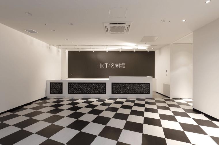 ⻄日本シティ銀⾏ HKT48 劇場のフロント