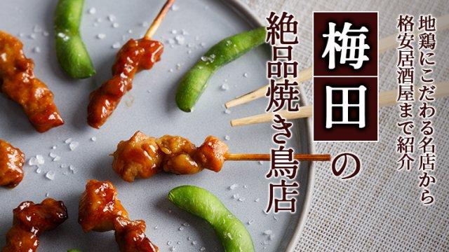 梅田の絶品焼き鳥店11選!地鶏にこだわる名店から格安居酒屋まで紹介