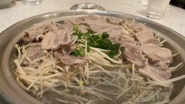 ○△□焼冨紗家の元祖豚もやしせいろむし鍋食べかけ